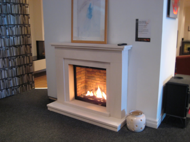 Fireplace on Display in Showroom