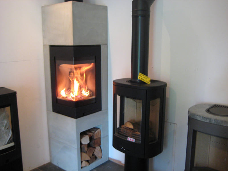 Hole in The Wall and Wood Burner in Showroom
