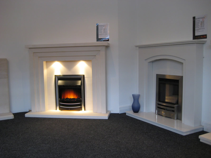 Traditional Fire in Showroom