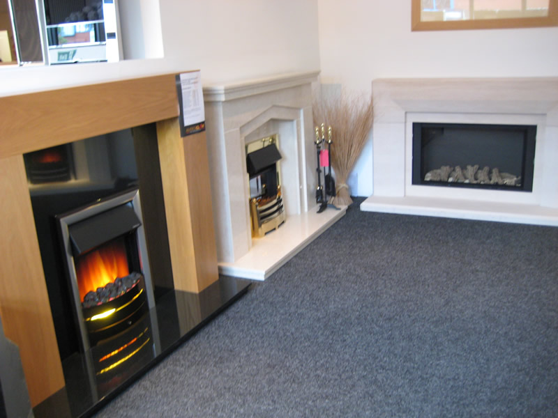 Electric Fires in Showroom