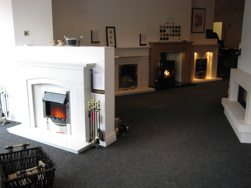 Selection of Fireplaces in Wirral Showroom
