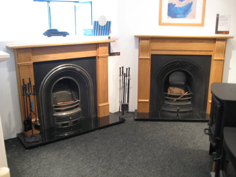 Traditional Fireplaces in Showroom