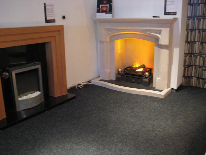 Wood Burning Fireplace in Showroom