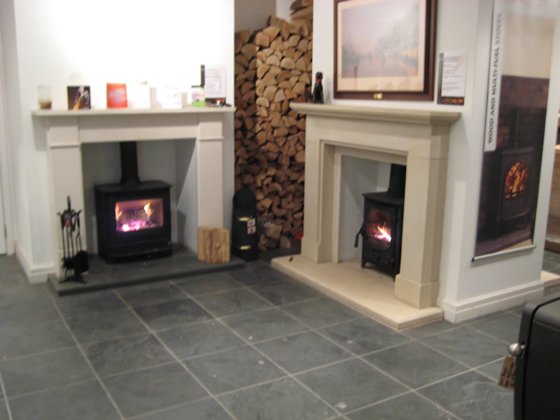 Traditional Fires in Showroom