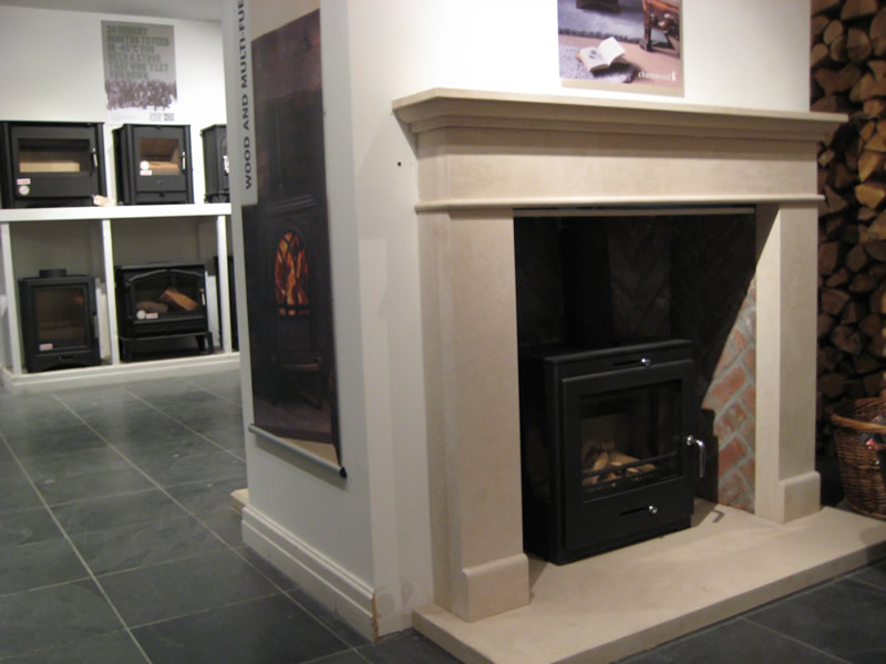 Multi-Fuel Stoves in Showroom