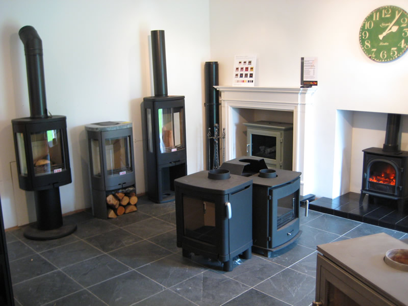 Modern No Chimney Fireplaces in Showroom