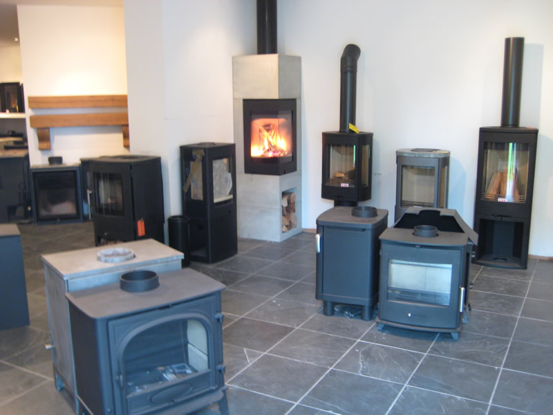 No Chimney Fireplaces in Showroom
