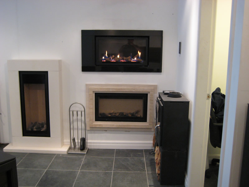 Electric Fireplace in Showroom