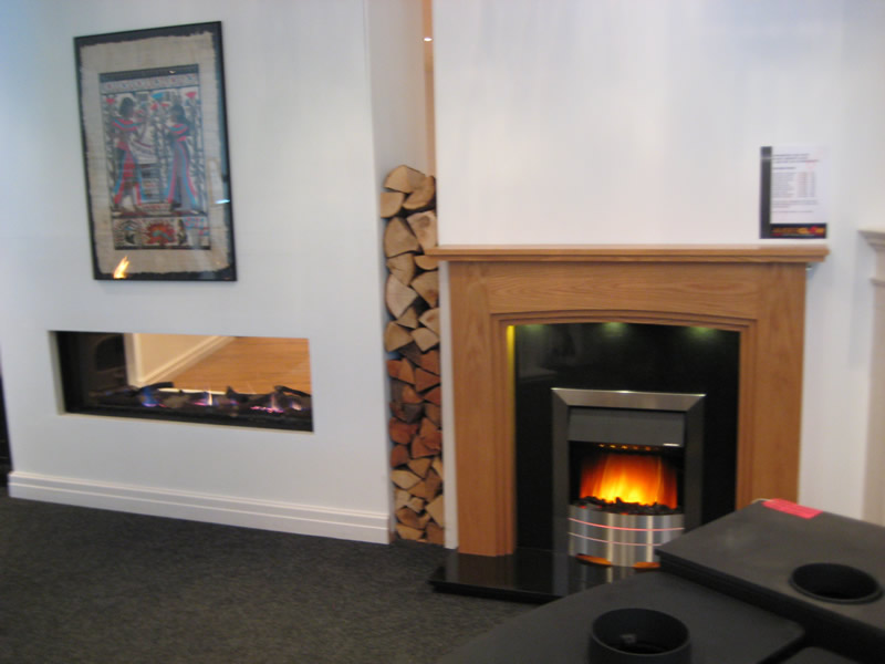 Fireplaces in Cheshire Oaks Showroom