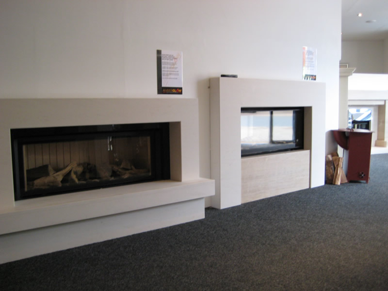 Selection of Fires in Showroom
