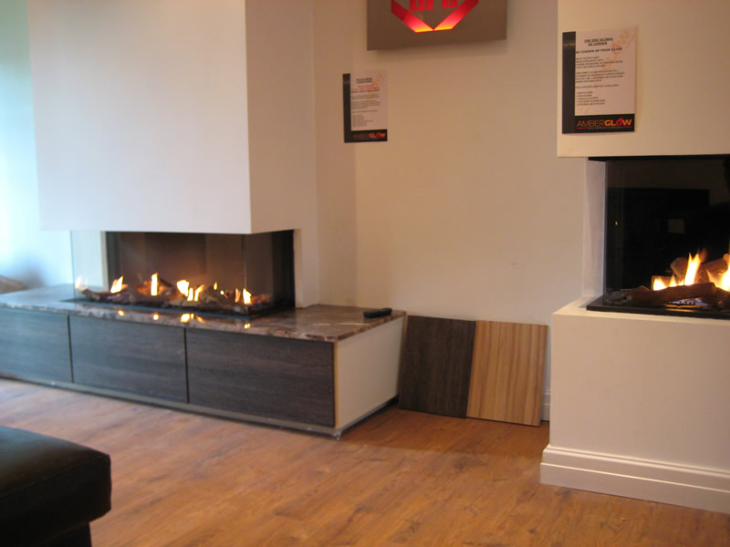 Electric Hole in The Wall Fires in Showroom