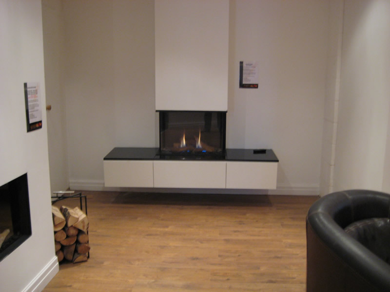 Electric Fire in Showroom