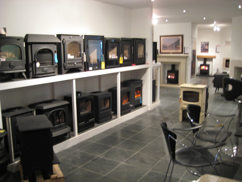 Stoves on Display in Showroom