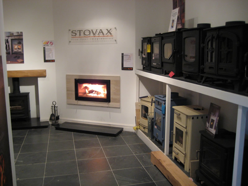 Stovax Section of Showroom